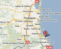 location vacances vue mer port vendres